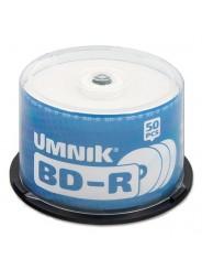 Диски (болванки) UMNIK BD-R 25Gb 6x Printable cake box 50