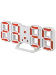 "Perfeo LED часы-будильник ""LUMINOUS 2"", белый корпус / красная подсветка (PF-6111)"