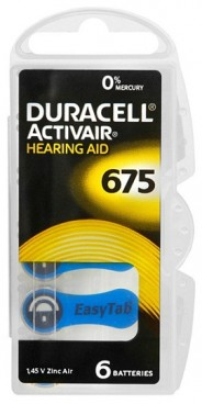 Duracell ZA675/6BL ActiveAir Nugget Box ZA675