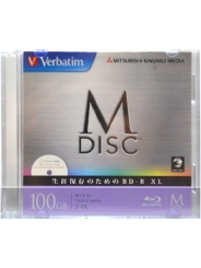 M Disc Verbatim BD-R XL 100 GB 4x Ink Printable Slim case
