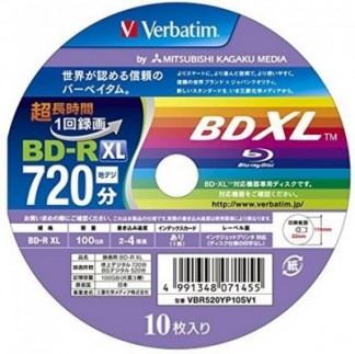VERBATIM BD-R XL 100 GB 4X SLIM CASE INK PRINT