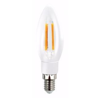 Лампа светодиодная SMART BUY C37-5W-220V-3000K-E14 FIL