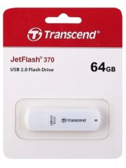 USB  64GB  Transcend  JetFlash 370  белый