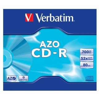 Verbatim CD-R диски 700MB 52X Slim/10 AZO