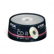 TDK CD-R диски 700MB 52X CB/25