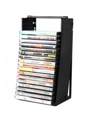 Подставка для DVD дисков DVD-20TR Трамплин Sound Box на 20 слим-боксов, чёрная