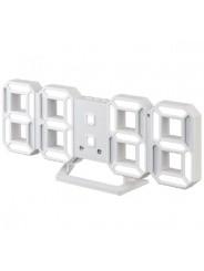 "Perfeo LED часы-будильник ""LUMINOUS 2"", белый корпус / белая подсветка (PF-6111)"