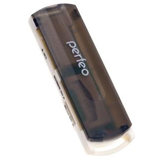 Perfeo Card Reader SD/MMC+Micro SD+MS+M2, (PF-VI-R013 White) белый
