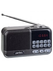Perfeo радиоприемник цифровой ASPEN FM 87.5-108МГц/ MP3/ питание USB или 18650/черный (i20BK)