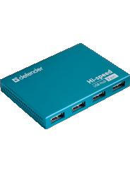 HUB DEFENDER SEPTIMA SLIM 7 портов, USB2.0(адаптер 2А) (1/50)