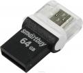 Накопитель USB/microUSB Flash 64Gb SmartBuy POKO Black OTG