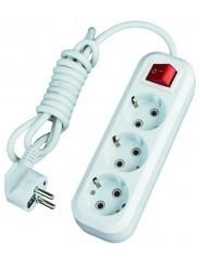 Удлинитель сетевой 220V SmartBuy 3 розетки, 7м, с выключателем и заземлением, 16A ПВС 3х1,0