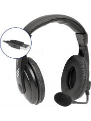 Стереогарнитура DEFENDER Gryphon 750U, 1.8м USB, рег.громкости, черный  (63752)