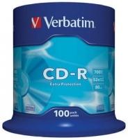 VERBATIM CD-R ДИСКИ 700MB 52X CB/100
