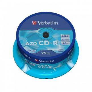 Verbatim CD-R диски 700MB 52X CB/25 AZO