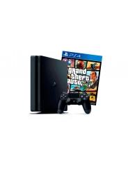 PlayStation 4 Slim 1Tb игровая приставка с игрой GTA 5