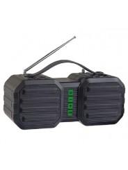 """Perfeo Bluetooth-колонка """"STAND"""" FM, MP3 microSD, USB, AUX, мощность 10Вт, 2400mAh, черная/зеленая"""