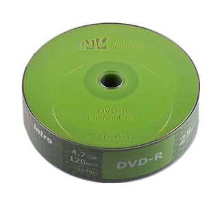 Диски Intro DVD-R 4,7GB 16Х shrink / 25