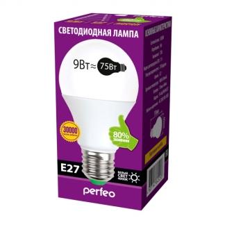 Perfeo светодиодная (LED) лампа PF-A60 9W 220V 4000K E27