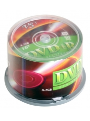 Диски VS DVD+R 4,7GB 16X Cake/50
