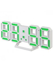 "Perfeo LED часы-будильник ""LUMINOUS 2"", белый корпус / зелёная подсветка (PF-6111)"