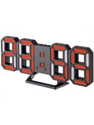 "Perfeo LED часы-будильник ""LUMINOUS 2"", чёрный корпус / красная подсветка (PF-6111)"