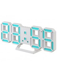 "Perfeo LED часы-будильник ""LUMINOUS 2"", белый корпус / синяя подсветка (PF-6111)"
