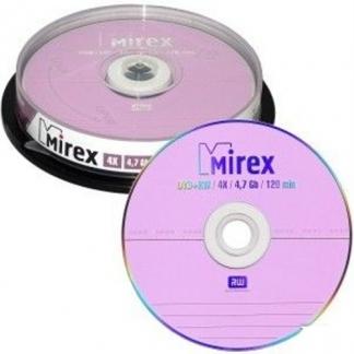 Диск Mirex DVD+RW 4,7Gb 4x cake 10