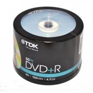 Диск TDK DVD+R 4,7GB 16X Cake/50
