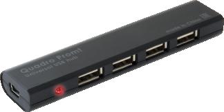 HUB DEFENDER QUADRO Promt USB2.0, 4 порта