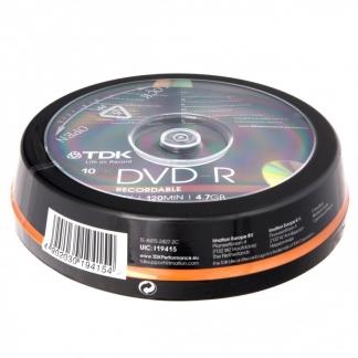 Диски TDK DVD-R 4,7GB 16X CB/10
