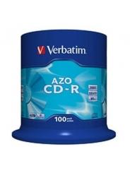 VERBATIM CD-R ДИСКИ 700MB 52X CB/100 AZO