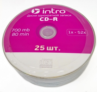 Intro CD-R диск 700mb 52x Shrink/25