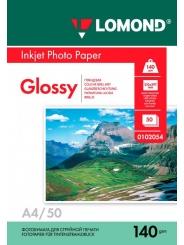 Фотобумага LOMOND A4 140 г/м2 глянцевая 50 листов