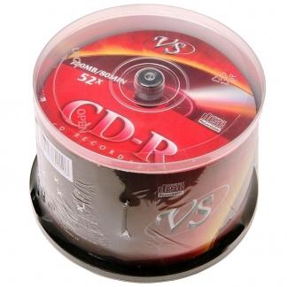 ДИСКИ VS CD-R 80 52X CB/50
