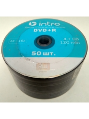 Диски INTRO DVD+R 4,7GB 16Х SHRINK / 50