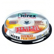 Диск DVD+R 8,5Gb Mirex 8x cake 10 Printable