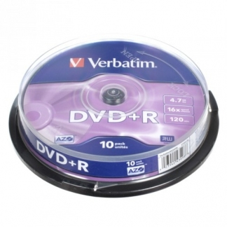 Verbatim DVD+R диски 4,7GB 16X Cake/10