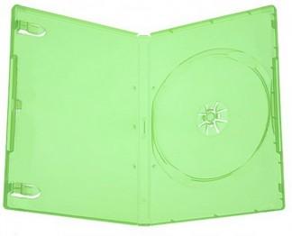 Коробка для диска DVD box 14 mm зелёная глянцевая