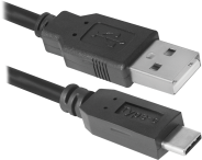 USB кабель Defender USB09-03PRO USB2.0 AM-C Type, 1.0 м