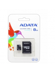MicroSD 8GB A-Data +SD адаптер