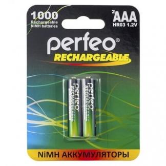 Аккумуляторы Perfeo AAА 1000mAh /2BL