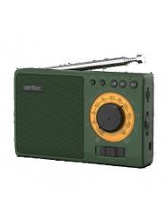 Perfeo радиоприемник аналоговый,всеволновый ЗАРЯ/ MP3/ питание 18650/зеленый(i10GR)