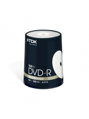 Диски TDK DVD-R 4.7 GB 16x CB/100 Full ink printable