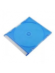 Коробка для диска CD slim box COLOR цветная синяя