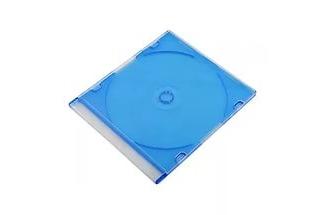 Коробка для диска CD slim box COLOR цветная синяя