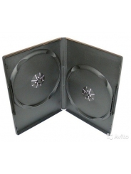 КОРОБКА ДЛЯ 2-Х ДИСКОВ DVD BOX 14 MM DOUBLE ЧЁРНАЯ ГЛЯНЦЕВАЯ