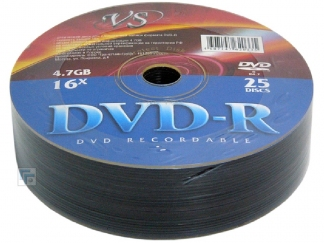 Диски VS DVD-R 4,7GB 16X Shrink/25