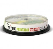 CD-R Mirex 700Mb 48x Printable cake 10 (UL120038A8L)