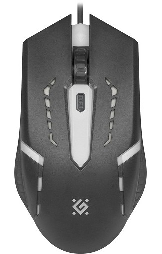 Мышь проводная DEFENDER Flash MB-600L, Black, USB, RGB (52600)